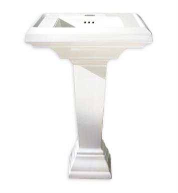 "American Standard 0790400.222 Town Square 24 Inch Pedestal Sink Combo With Finish: Linen And Faucet Holes: 4"" Centers"