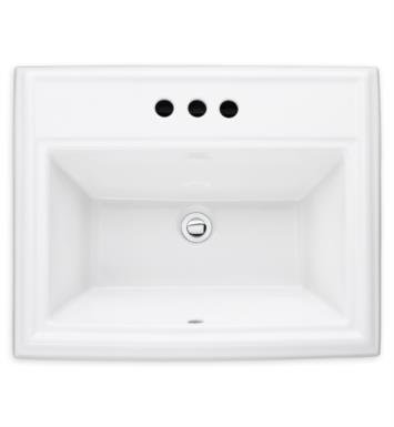 American Standard 0700001.020 Town Square Countertop Sink With Finish: White And Faucet Holes: Center hole only