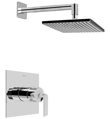 Graff G-7240-LM40S-SN Full Pressure Balancing System Shower With Finish: Steelnox (Satin Nickel)
