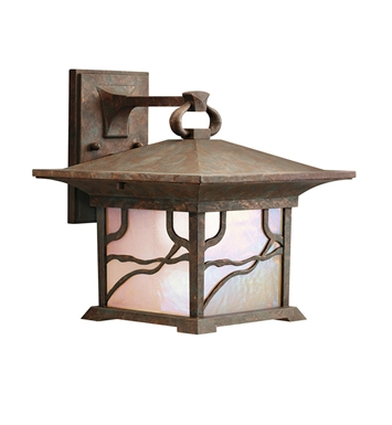 Kichler 9026DCO One Light Outdoor Wall Sconce in Distressed Copper