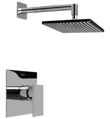 Graff G-7240-LM31S-PC/BK Solar/Structure Contemporary Full Pressure Balancing System Shower With Finish: Architectural Black w/ Chrome Accents And Rough / Valve: Rough