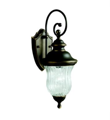 "Kichler 9412OZ Sausalito 1 Light 7"" Incandescent Outdoor Wall Sconce in Olde Bronze"