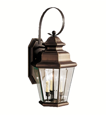 Kichler Savannah Estates Collection 3 Light Outdoor Wall Sconce in Olde Bronze