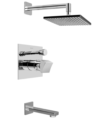 Graff G-7290-C10S-PC Contemporary Pressure Balancing Tub and Shower Set With Finish: Polished Chrome
