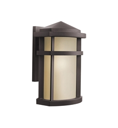 Kichler 9167AZ One Light Outdoor Wall Sconce in Architectural Bronze