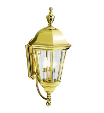 Kichler 9489PB Grove Mill 3 Light Incandescent Outdoor Wall Sconce in Polished Brass