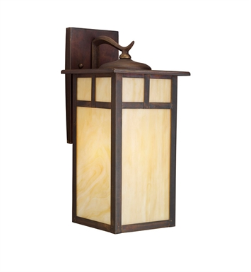 Kichler 9148CV Alameda Collection 1 Light Outdoor Wall Sconce in Brown