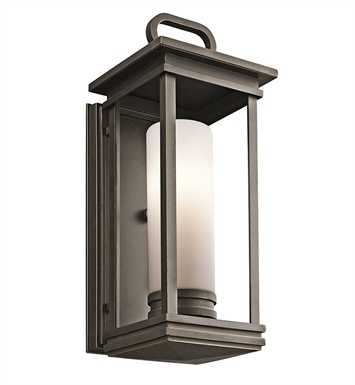 Kichler 49475RZ South Hope Collection 1 Light Outdoor Wall Sconce in Rubbed Bronze
