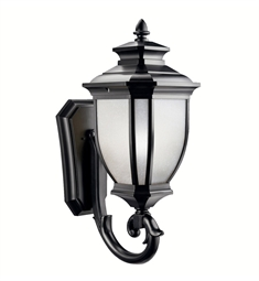 Kichler Salisbury Collection 1 Light Outdoor Wall Sconce in Black (Painted)