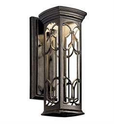 Kichler Franceasi Collection 1 Light Outdoor Wall Sconce in Olde Bronze