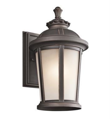 "Kichler 49410RZ Ralston 1 Light 8"" Incandescent Outdoor Wall Sconce in Rubbed Bronze"