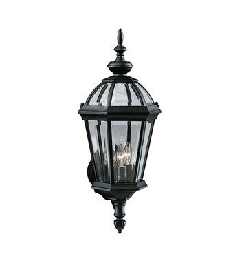 Kichler 9251BK Trenton Collection 1 Light Outdoor Wall Sconce in Black (Painted)