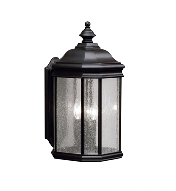 Kichler 9030BK 3 Light Outdoor Wall Sconce in Black (Painted)