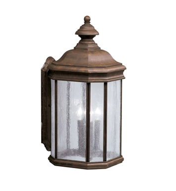 Kichler 9030TZ 3 Light Outdoor Wall Sconce in Tannery Bronze