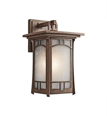 "Kichler 49451AGZ Soria 1 Light 9"" Incandescent Outdoor Wall Sconce in Aged Bronze"