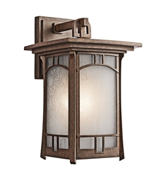 Kichler Soria Collection 1 Light Outdoor Wall Sconce in Aged Bronze