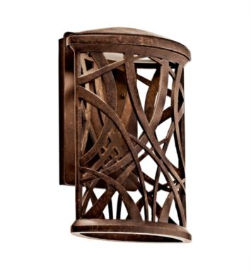 "Kichler 49249AGZLED Maya Palm 1 Light 9 1/2"" LED Outdoor Wall Sconce in Aged Bronze"