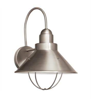 "Kichler 11099NI Seaside 1 Light 10 1/4"" Compact Fluorescent Outdoor Wall Sconce in Brushed Nickel"