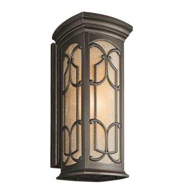 "Kichler 49229OZ Franceasi 1 Light 10"" Incandescent Outdoor Wall Sconce in Olde Bronze"