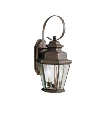 "Kichler 9676OZ Savannah Estates 2 Light 9 1/2"" Incandescent Outdoor Wall Sconce in Olde Bronze"