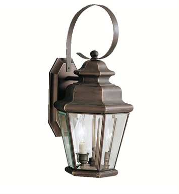 Kichler 9676OZ Savannah Estates Collection 2 Light Outdoor Wall Sconce in Olde Bronze