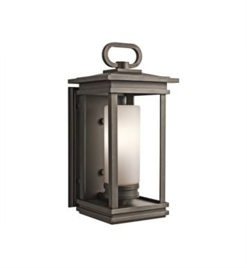 "Kichler 49476RZ South Hope 1 Light 9"" Incandescent Outdoor Wall Sconce in Rubbed Bronze"