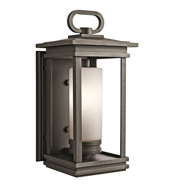 Kichler South Hope Collection 1 Light Outdoor Wall Sconce in Rubbed Bronze