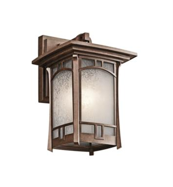 "Kichler 49450AGZ Soria 1 Light 7 1/2"" Incandescent Outdoor Wall Sconce in Aged Bronze"