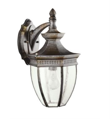 "Kichler 9369TZ Warrington 1 Light 9 1/4"" Incandescent Outdoor Wall Sconce in Tannery Bronze"