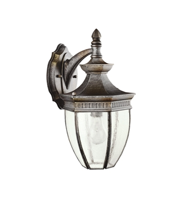 Kichler 9369TZ Warrington Collection 1 Light Outdoor Wall Sconce in Tannery Bronze