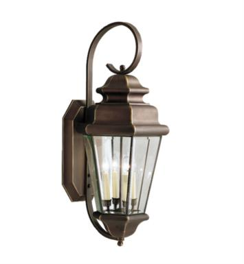 Kichler 9631OZ Savannah Estates 4 Light Incandescent Outdoor Wall in Olde Bronze