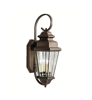 Kichler 9631OZ Savannah Estates Collection 4 Light Outdoor Wall Sconce in Olde Bronze