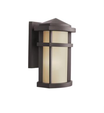 "Kichler 9166AZ Lantana 1 Light 7"" Incandescent Outdoor Wall Sconce in Architectural Bronze"