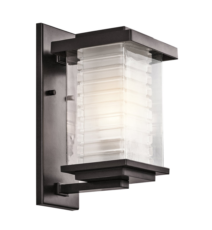 Kichler 49365AZ Ascari Collection 1 Light Outdoor Wall Sconce in Architectural Bronze