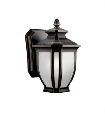 "Kichler 11001RZ Salisbury 1 Light 6"" Compact Fluorescent Outdoor Wall Sconce in Rubbed Bronze"