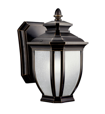 Kichler 11001RZ Salisbury Collection 1 Light Outdoor Wall Sconce in Rubbed Bronze