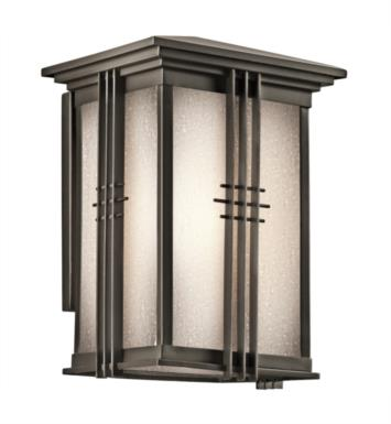 "Kichler 49158OZ Portman Square 1 Light 7"" Incandescent Outdoor Wall Sconce in Olde Bronze"