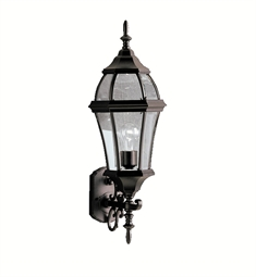 Kichler Townhouse Collection 1 Light Outdoor Wall Sconce in Black (Painted)