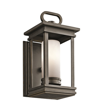 Kichler 49474RZ South Hope Collection 1 Light Outdoor Wall Sconce in Rubbed Bronze