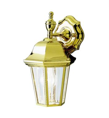 "Kichler 9409PB Grove Mill 1 Light 7 1/2"" Incandescent Outdoor Wall Sconce in Polished Brass"