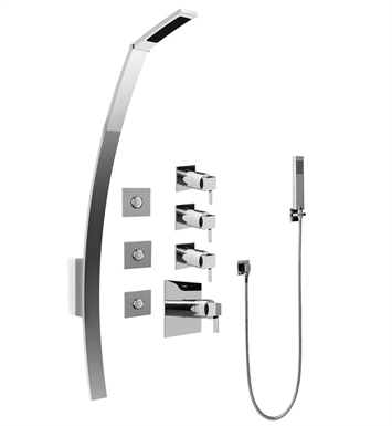 Graff GF1.120A-LM39S Luna Thermostatic Shower Set with Body Sprays and Handshower