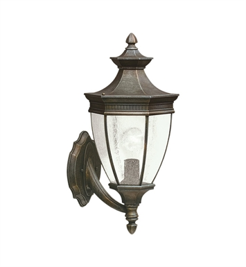 Kichler 9370TZ Warrington Collection 1 Light Outdoor Wall Sconce in Tannery Bronze