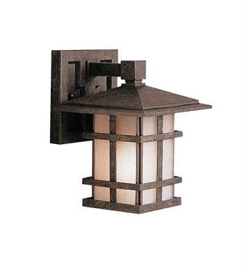 Kichler 9128AGZ One Light Outdoor Wall Sconce in Aged Bronze