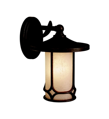 Kichler 9365AGZ Chicago Collection 1 Light Outdoor Wall Sconce in Aged Bronze