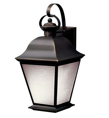 Kichler 10909OZ Mount Vernon Collection 1 Light Outdoor Wall Sconce in Olde Bronze