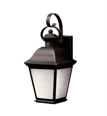 Kichler 10908OZ Mount Vernon Collection 1 Light Outdoor Wall Sconce in Olde Bronze