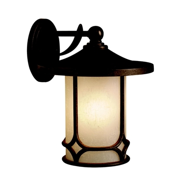 Kichler 9367AGZ Chicago Collection 1 Light Outdoor Wall Sconce in Aged Bronze