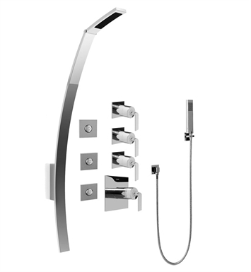 Graff GF1.120A-LM40S Luna Thermostatic Shower Set with Body Sprays and Handshower