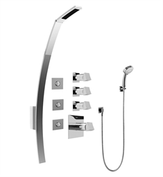 Graff GF1.130A-C10S Luna Thermostatic Shower Set with Body Sprays and Handshower