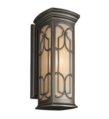 "Kichler 49228OZ Franceasi 1 Light 8 1/2"" Incandescent Outdoor Wall Sconce in Olde Bronze"